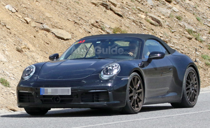 Porsche 992 Convertible Resurfaces for Hot Weather Testing
