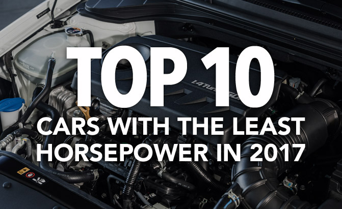 Top 10 Cars With the Least Horsepower in 2017