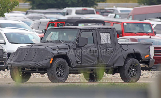 Spy Photos Reveal More About Upcoming Jeep Wrangler Pickup
