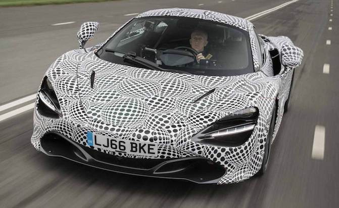 McLaren Shows Off Three Seat BP23 Hypercar Mule