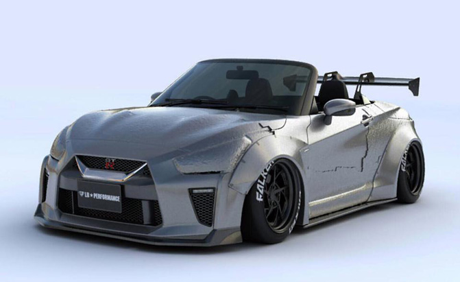 Liberty Walk Transformed a Subcompact Convertible to a Nissan GT-R… Sort Of