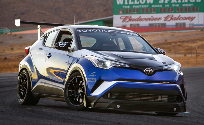 Toyota C-HR With Obnoxiously Huge Wing Has 600 HP