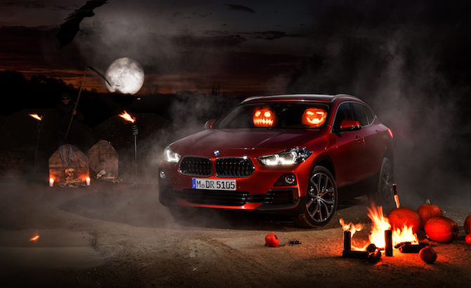 Car Crazy Jack-o-Lanterns Commandeer a BMW X2