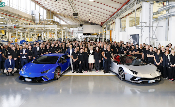 Lamborghini has Built 7,000 Aventadors and 9,000 Huracans