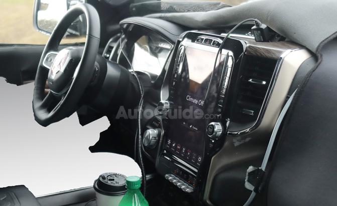 Spy Photos Expose 2019 Ram 1500's New Tesla-Like Touchscreen
