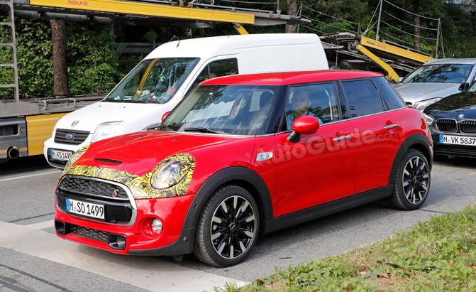 MINI Cooper Four-Door Refresh Spied Testing with Minimal Camouflage