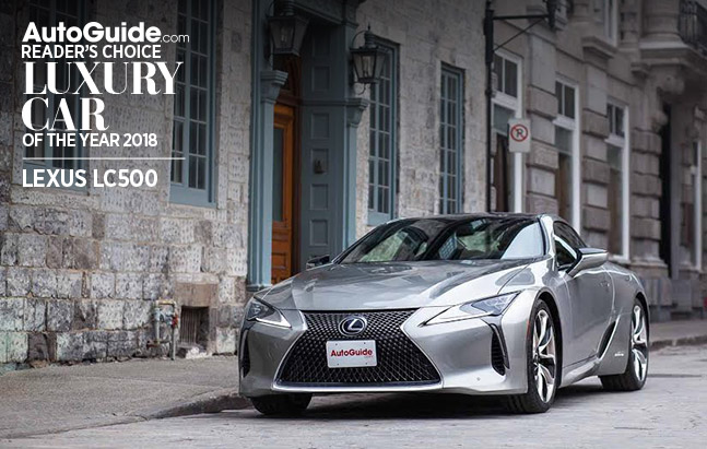 Lexus LC500 Wins 2018 AutoGuide.com Reader's Choice Luxury Car of the Year Award