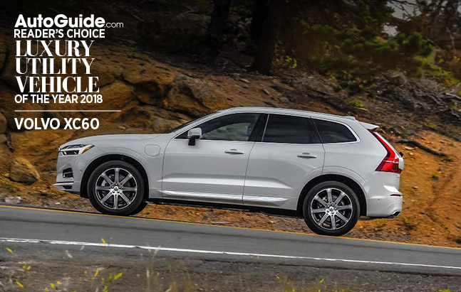 Volvo XC60 Wins 2018 AutoGuide.com Reader's Choice Luxury Utility Vehicle of the Year Award