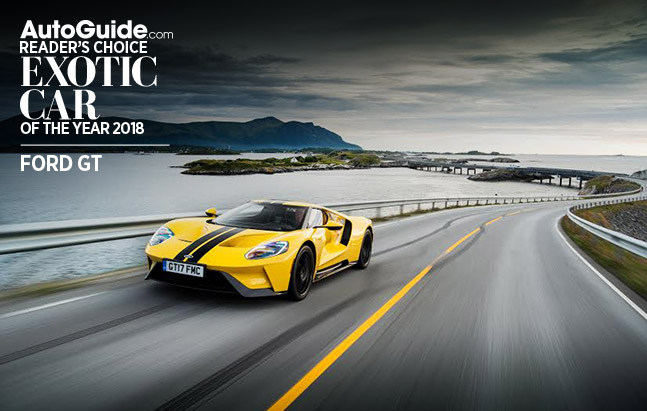 Ford GT Wins 2018 AutoGuide.com Reader's Choice Exotic Car of the Year Award