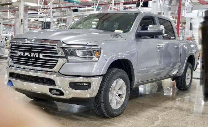 Leaked 2019 Ram 1500 Image Shows Off Truck's all-new Front End