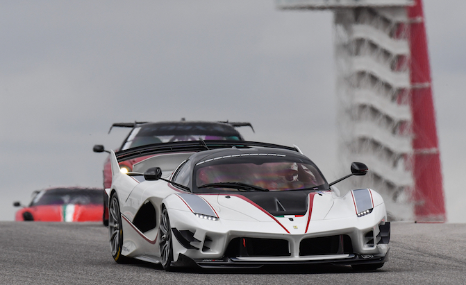 Ferrari FXX K Evo Looks Absolutely Wild on Track