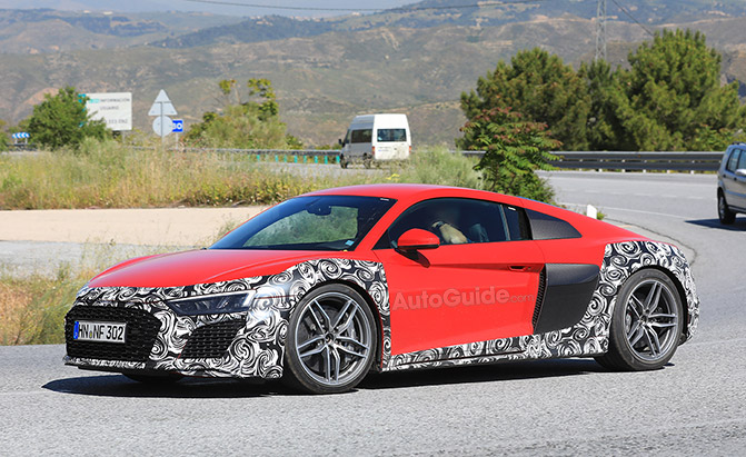 Audi R8 Spied Testing its Facelift in Spain