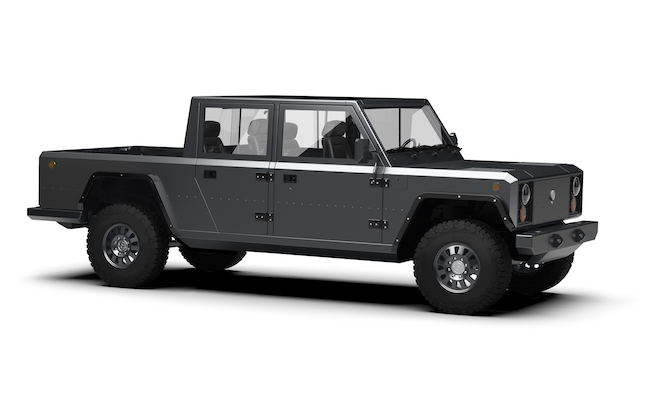 Bollinger B2 is a Fully Electric Pickup Truck With 520 HP